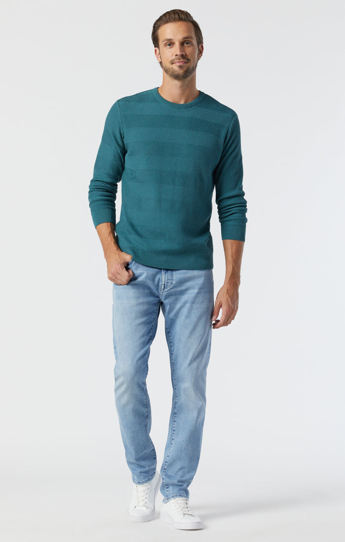 JAKE SLIM LEG JEANS IN SKY BLUE SUPERMOVE - Mavi Jeans