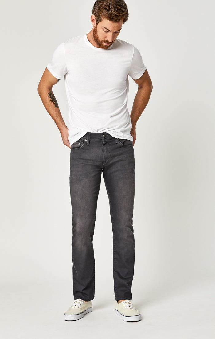 ZACH STRAIGHT LEG JEANS IN SLATE GREY WHITE EDGE - Mavi Jeans