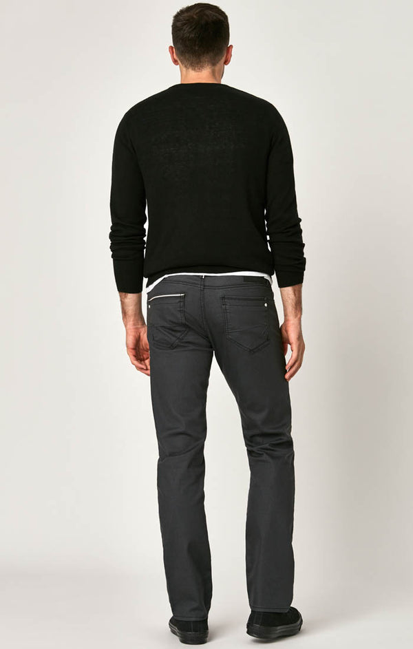 ZACH STRAIGHT LEG JEANS IN GREY COATED WHITE EDGE - Mavi Jeans