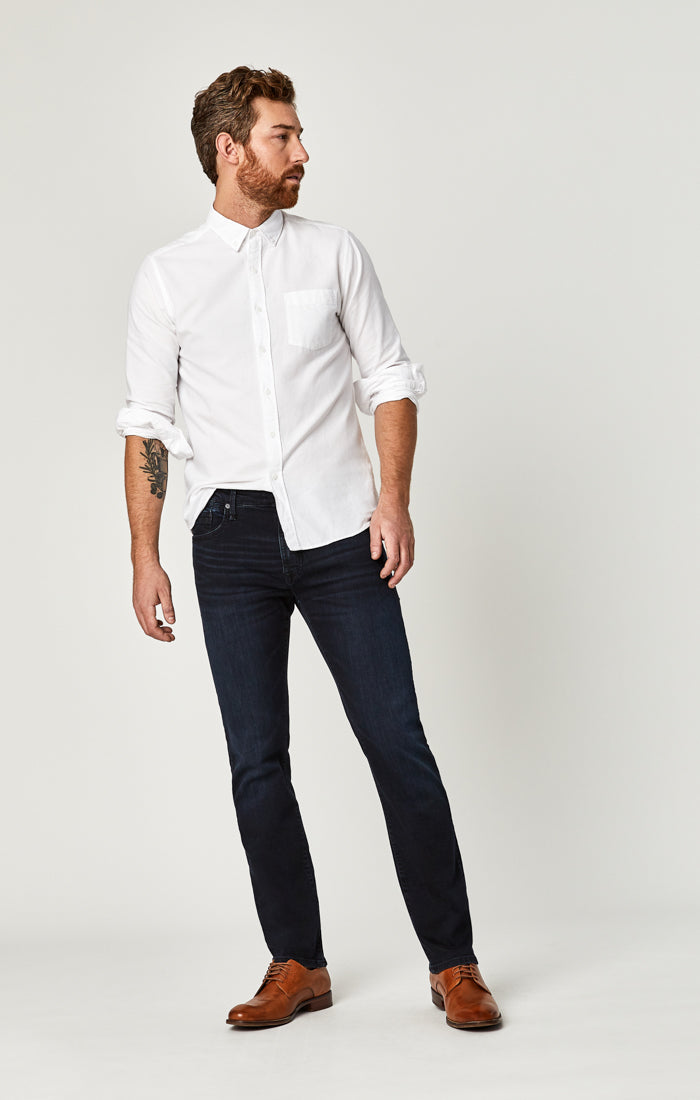 ZACH STRAIGHT LEG JEANS IN DEEP INK WILLIAMSBURG - Mavi Jeans