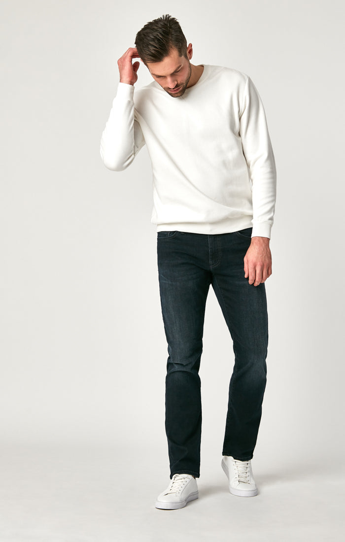 ZACH STRAIGHT LEG JEANS IN DEEP INK CASHMERE - Mavi Jeans