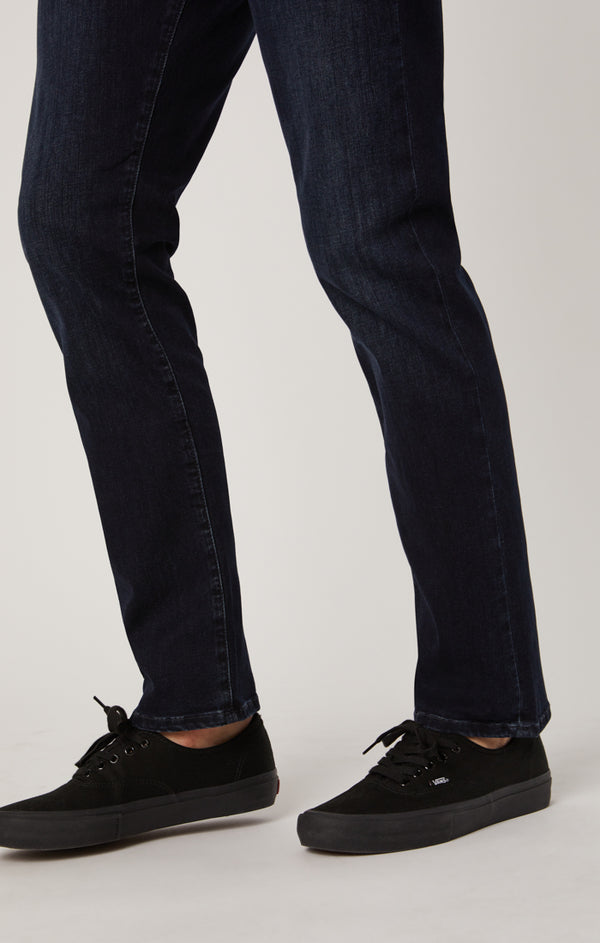 ZACH STRAIGHT LEG JEANS IN INK BRUSHED CASHMERE - Mavi Jeans