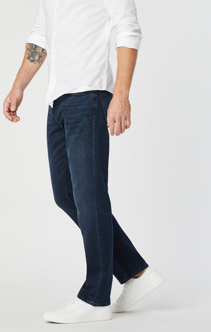 ZACH STRAIGHT LEG JEANS IN BLUE BLACK ATHLETIC - Mavi Jeans