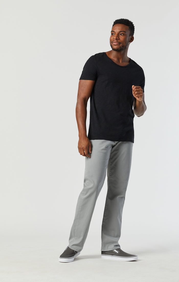 ZACH STRAIGHT LEG PANTS IN MONUMENT TWILL - Mavi Jeans