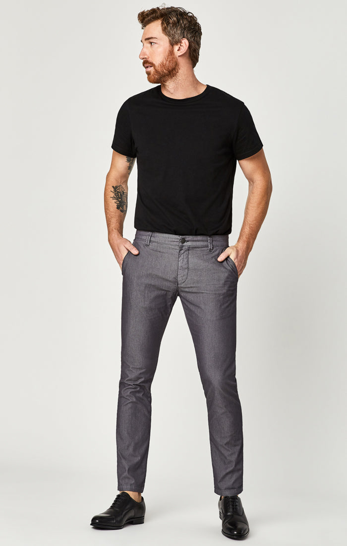 JOHNNY SLIM CHINO PANTS IN STONE DIAGONAL TWILL - Mavi Jeans