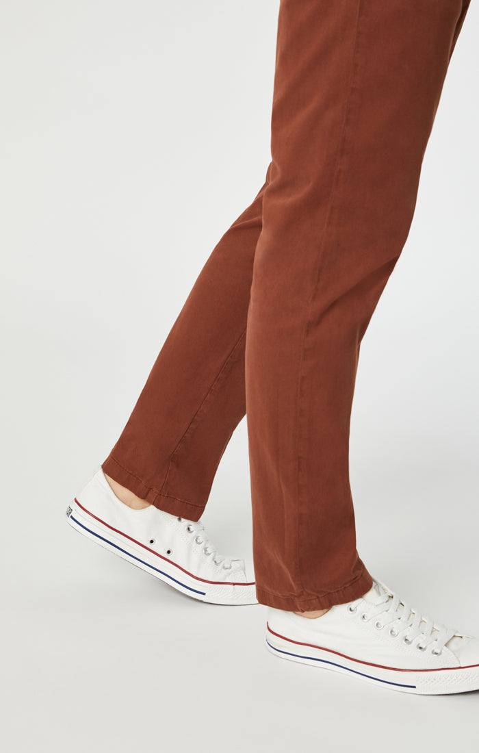 MARCUS SLIM STRAIGHT LEG PANTS IN TORTOISE SHELL SATEEN - Mavi Jeans