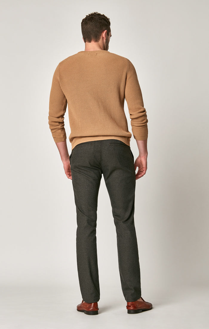 JOHNNY SLIM CHINO PANTS IN BROWN FEATHER TWEED - Mavi Jeans