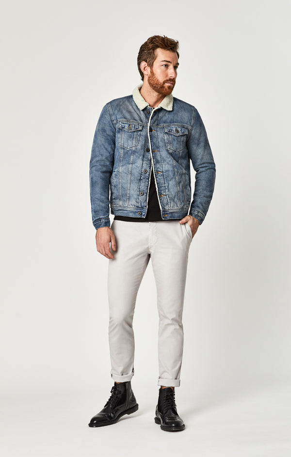FRANK DENIM JACKET IN MID SHADED - Mavi Jeans