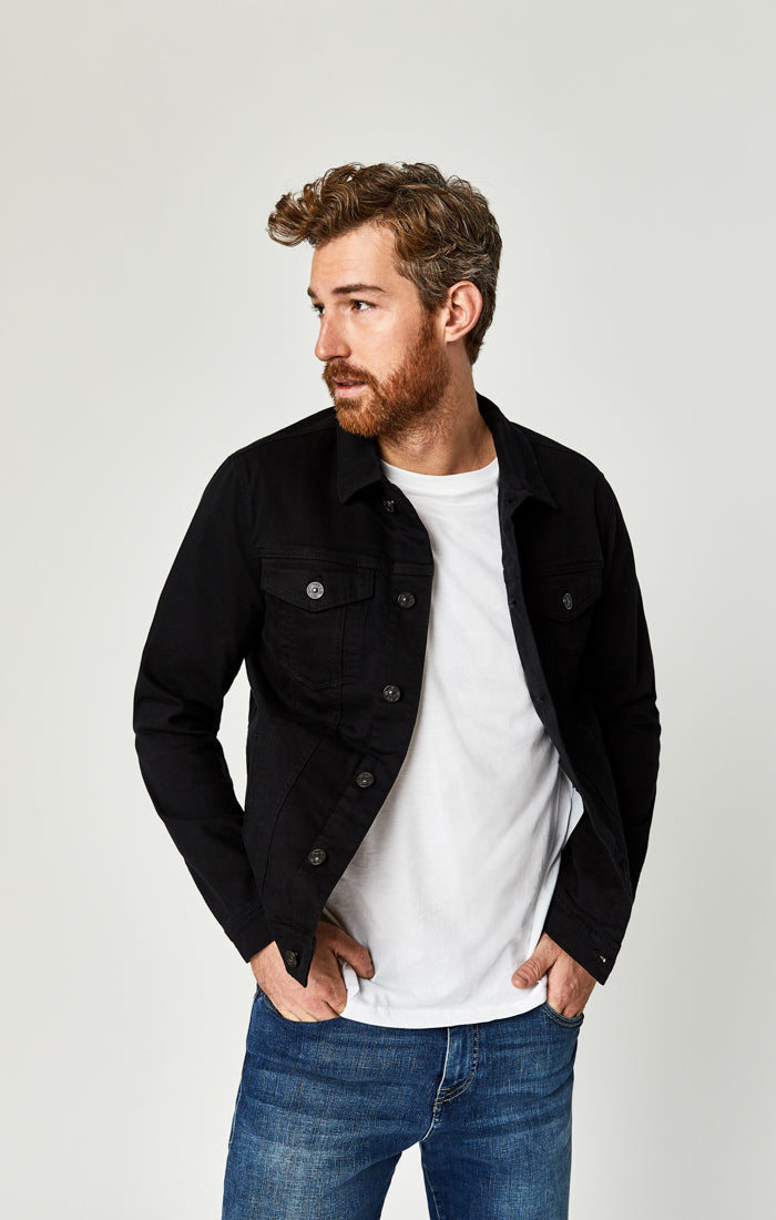 FRANK JACKET IN BLACK COMFORT