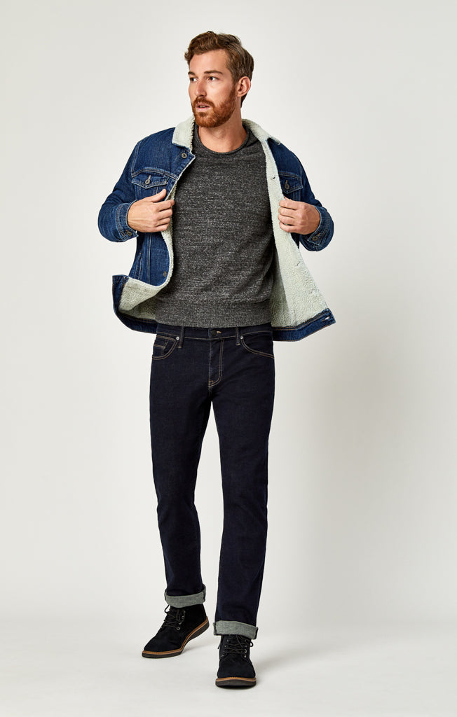 FRANK JACKET IN DARK SHERPA - Jackets & Hoodies - Mavi Jeans