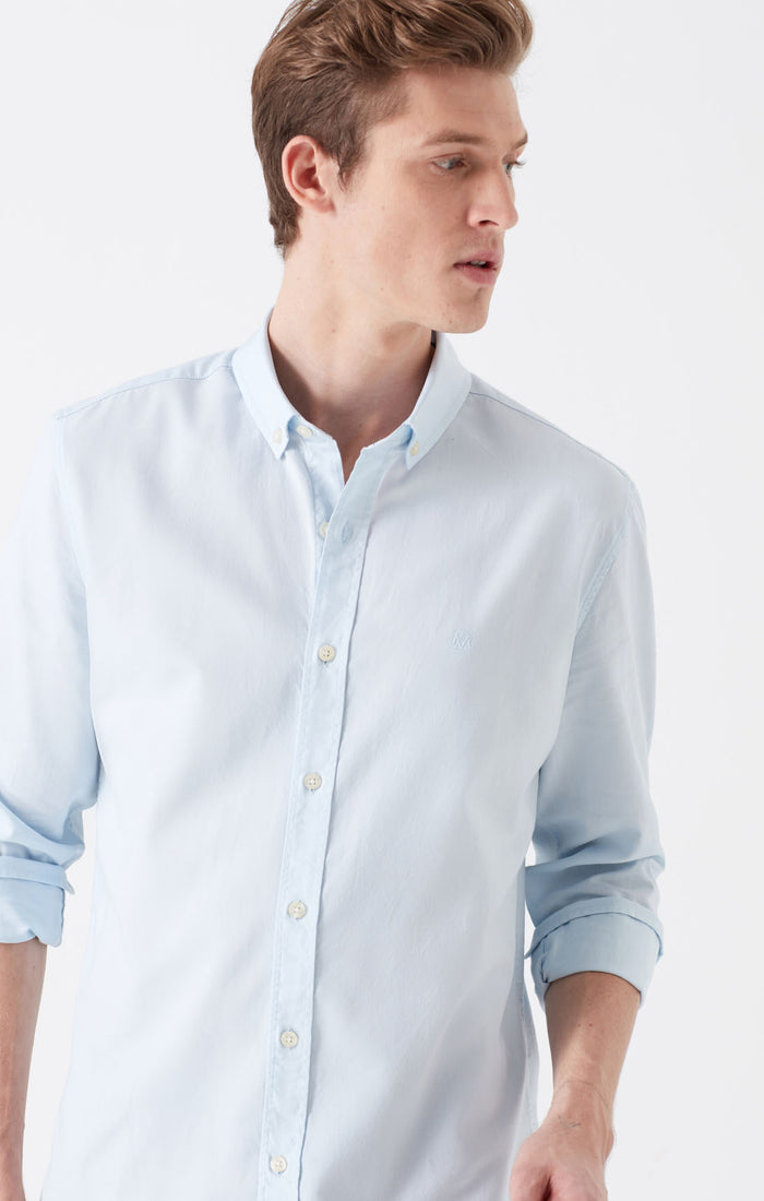 BLAKE EXTRA SLIM FIT BUTTON DOWN SHIRT IN LIGHT BLUE - Mavi Jeans
