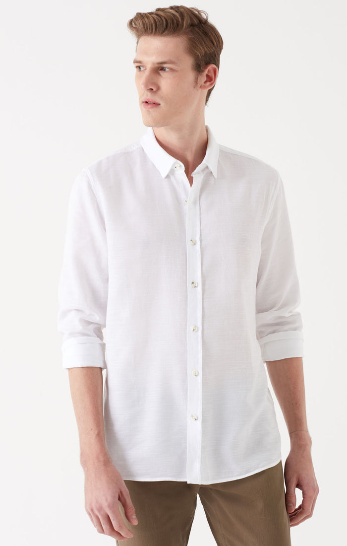 KEN EXTRA SLIM FIT BUTTON UP SHIRT IN ANTIQUE WHITE - Mavi Jeans