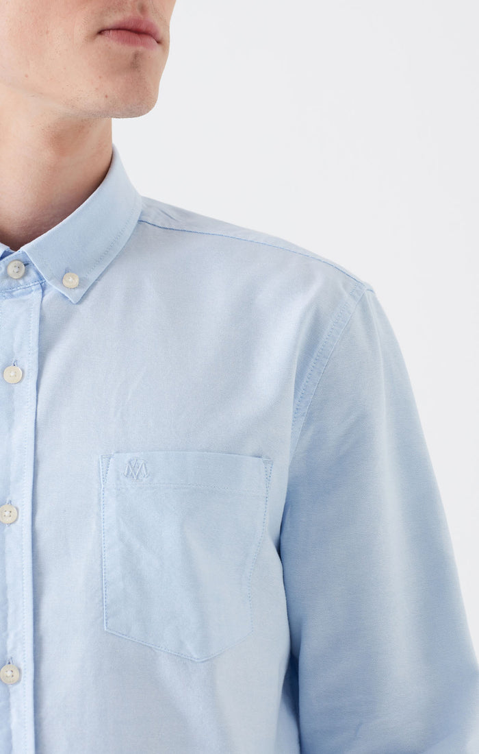 DAVE BUTTON DOWN SHIRT IN LIGHT BLUE - Mavi Jeans