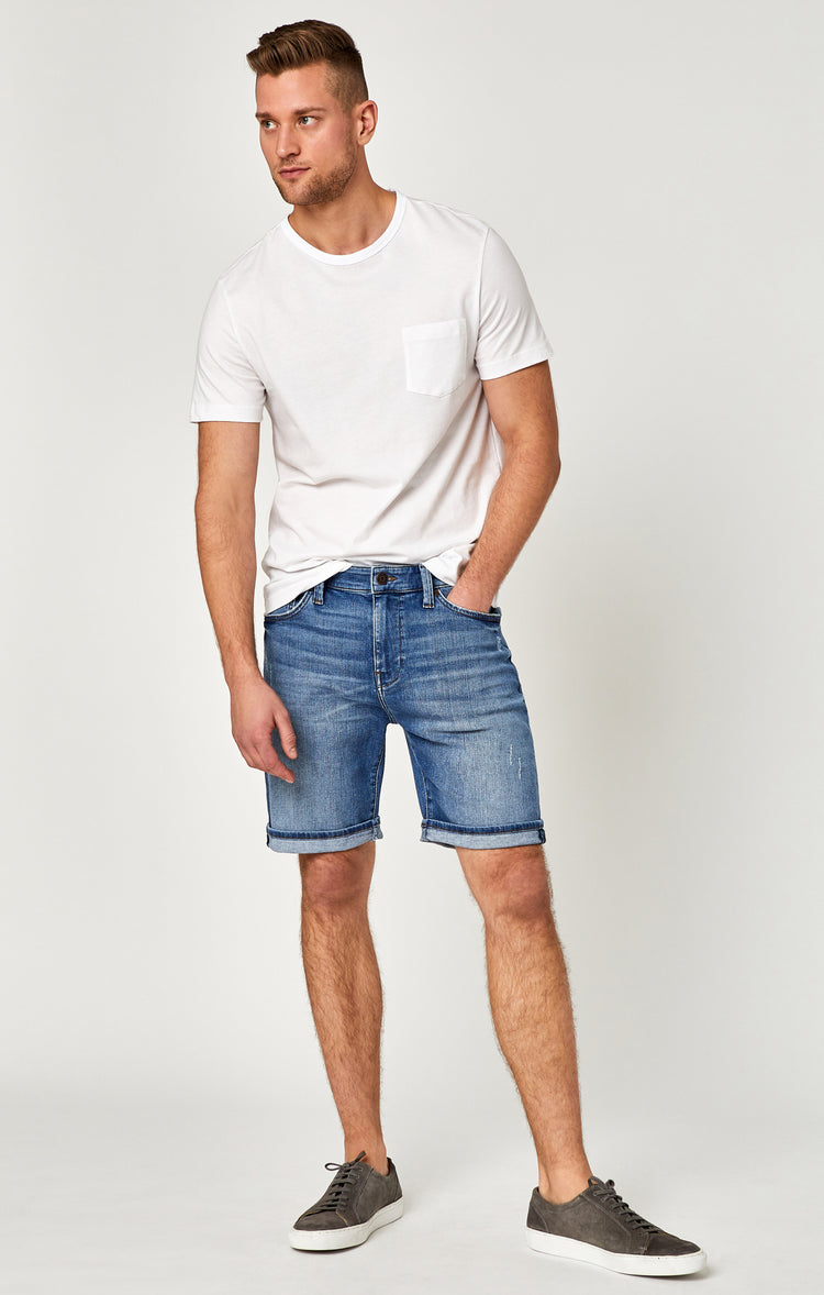 BRIAN SHORTS IN MID USED COMFORT - Shorts - Mavi Jeans