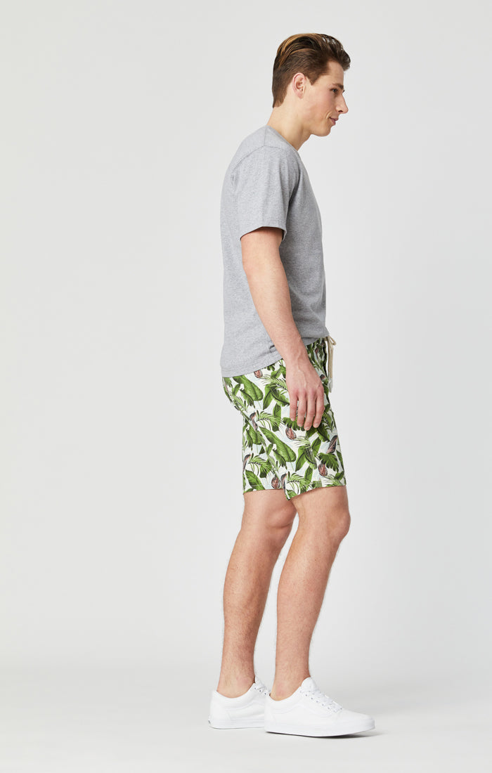 JAY DRAWSTRING SHORTS IN PALM FESTIVAL DENIM - Mavi Jeans