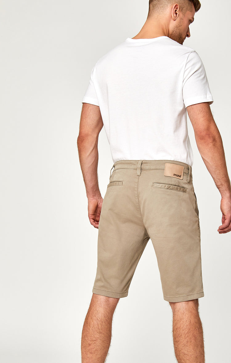 JACOB SHORTS IN BEIGE TWILL - Mavi Jeans