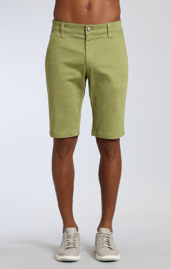 JACOB SHORTS IN LIGHT GREEN TWILL - Mavi Jeans