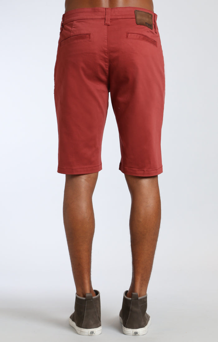 JACOB SHORTS IN ROSE WOOD TWILL