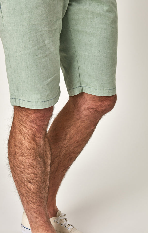 JACOB SHORTS IN GREEN FANCY TWILL - Mavi Jeans