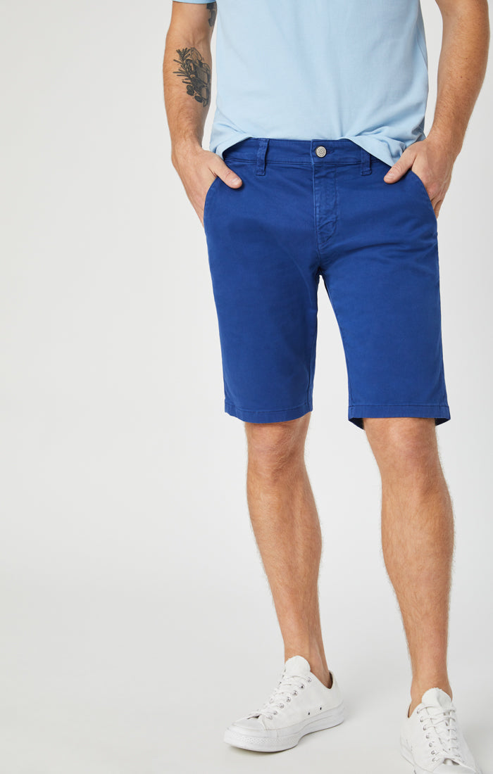 JACOB SHORTS IN ULTRA BLUE SATEEN - Mavi Jeans