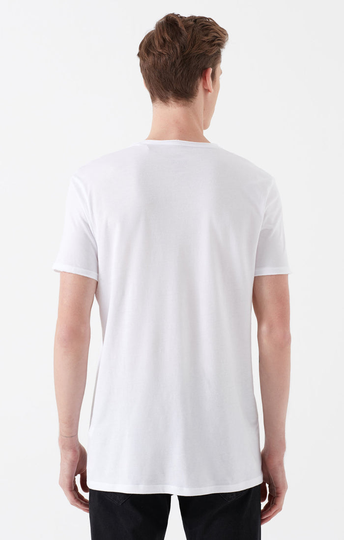 LIAM EXTRA SLIM FIT CREWNECK T-SHIRT IN WHITE - Mavi Jeans