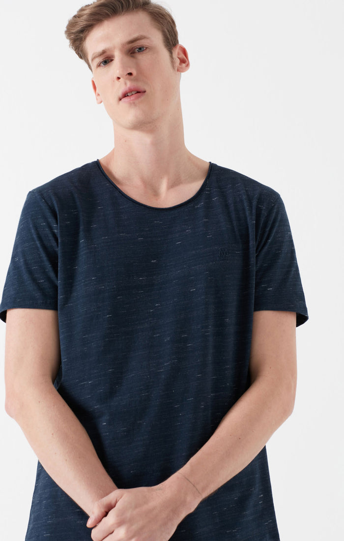 COLE CREWNECK T-SHIRT IN HEATHERED BLUE - Mavi Jeans