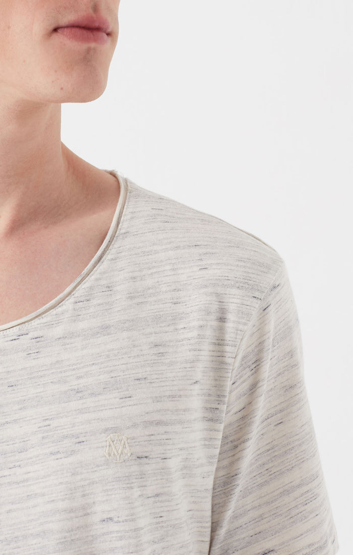 COLE CREWNECK T-SHIRT IN HEATHERED BEIGE - Mavi Jeans