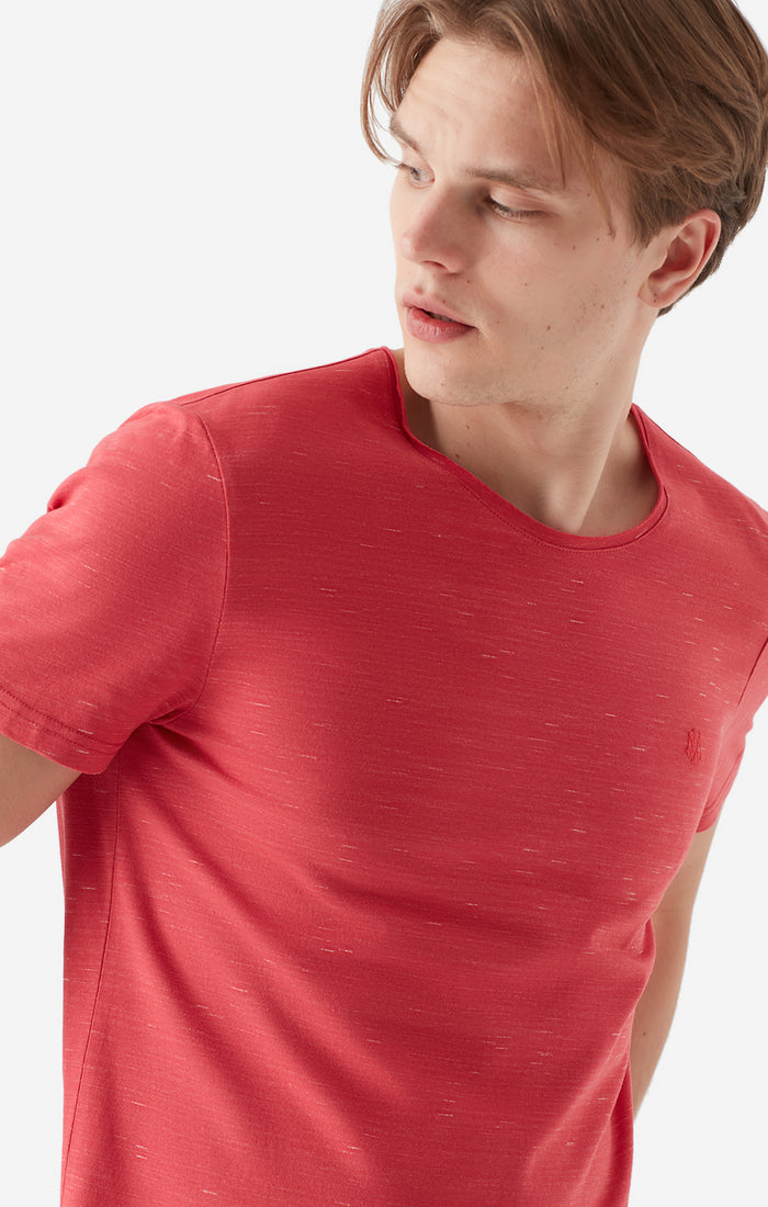 COLE CREWNECK T-SHIRT IN RED - Mavi Jeans