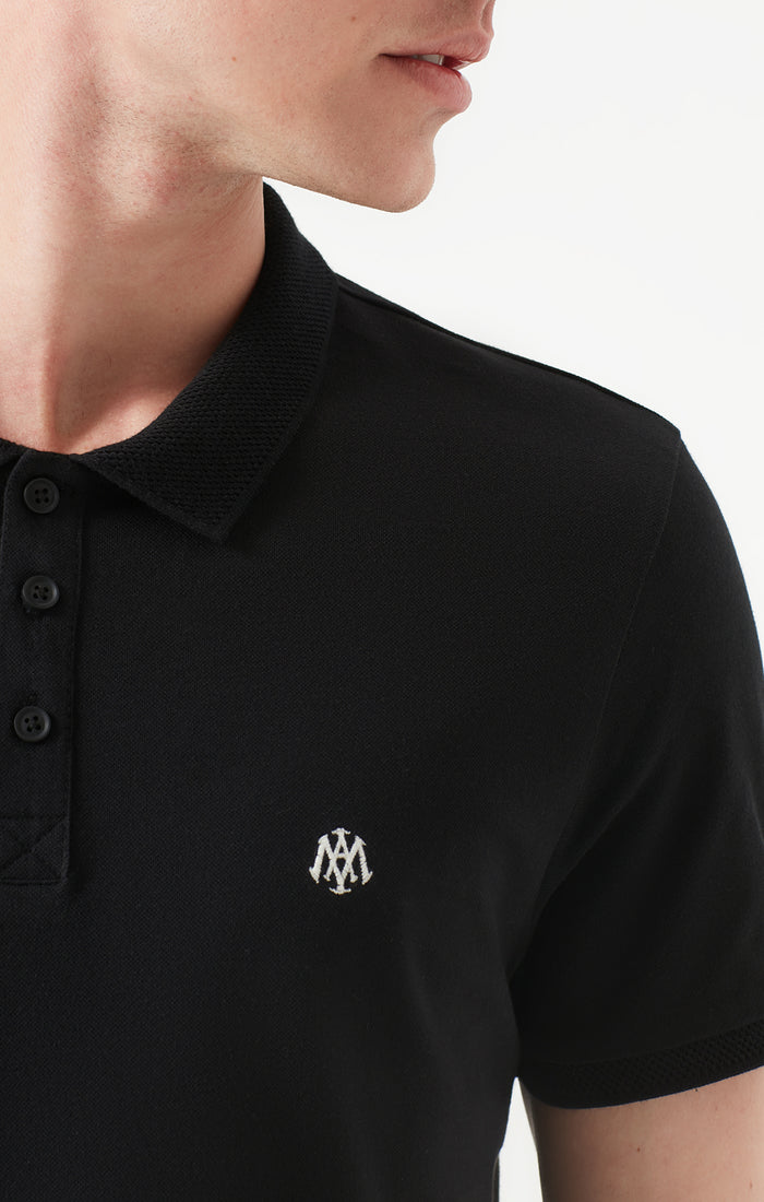 ANDY SLIM FIT POLO T-SHIRT IN BLACK - Mavi Jeans