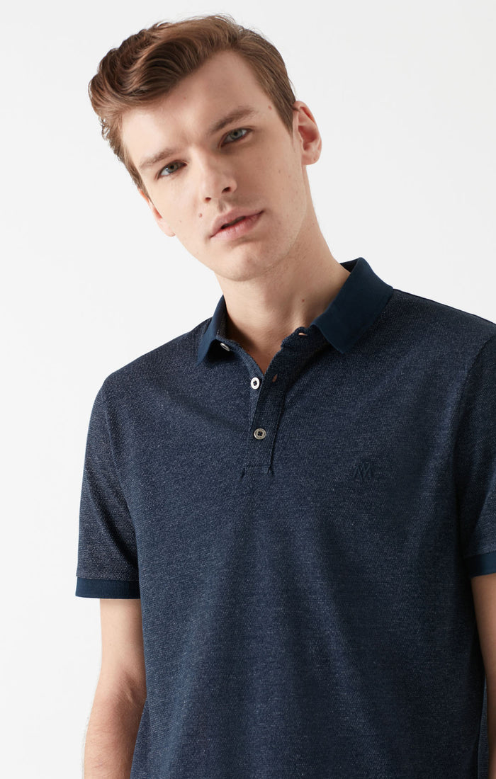 KYLO EXTRA SLIM FIT POLO T-SHIRT IN NAVY - Mavi Jeans