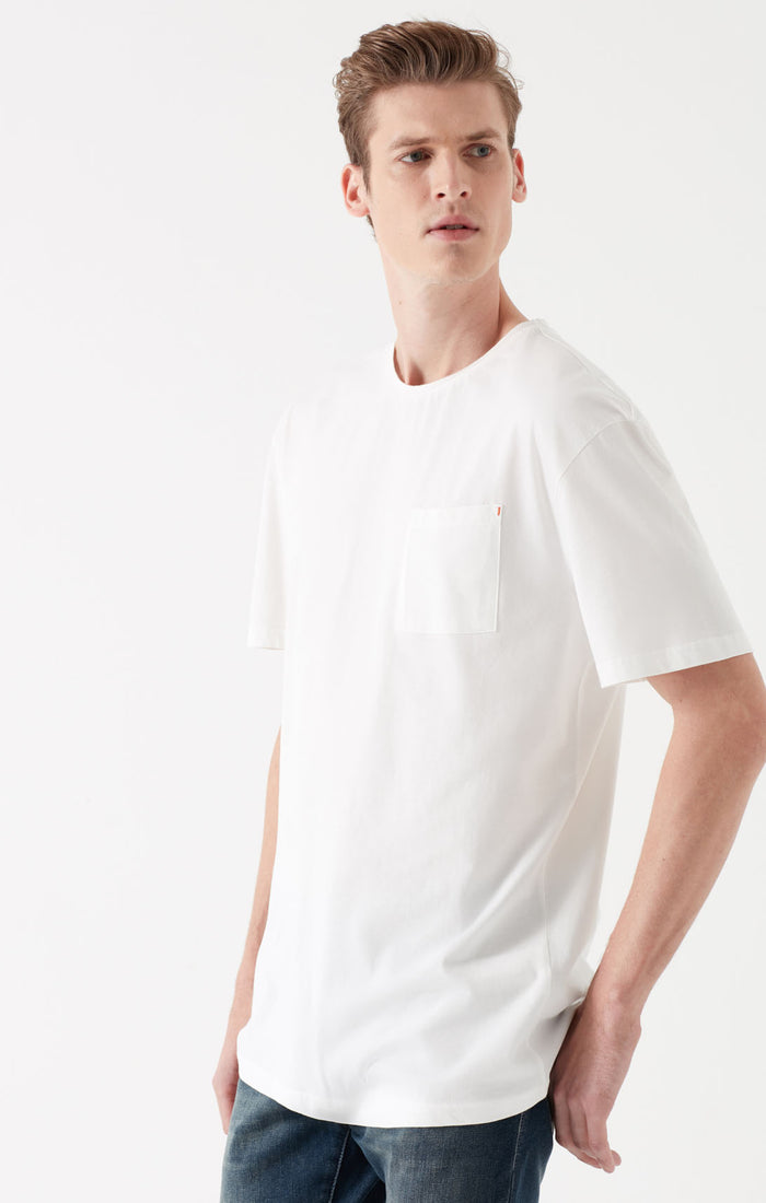 TODD SLIM FIT T-SHIRT WITH POCKET IN WHITE - Mavi Jeans