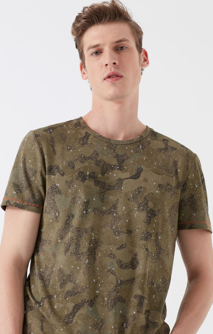 GARY EXTRA SLIM FIT CREWNECK T-SHIRT IN CAMO - Mavi Jeans
