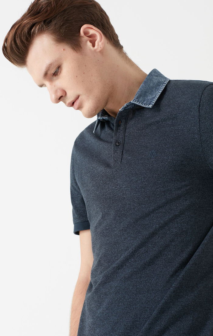 FINN SLIM FIT POLO T-SHIRT IN NAVY - Mavi Jeans