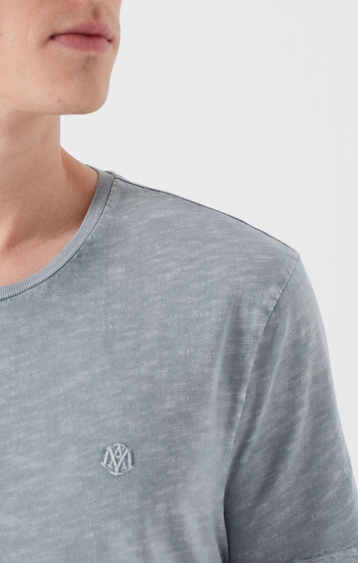 VINCE SLIM FIT CREWNECK T-SHIRT IN HEATHERED BLUE - Mavi Jeans
