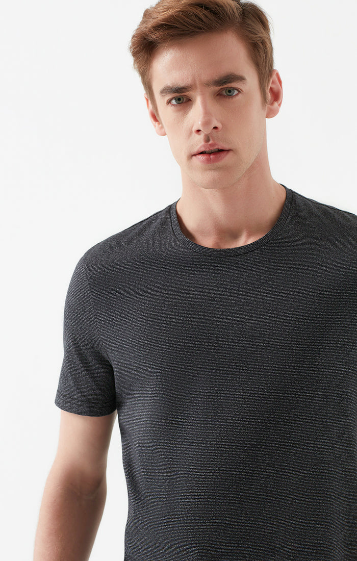 RICK SLIM FIT CREWNECK T-SHIRT IN DARK GREY - Mavi Jeans