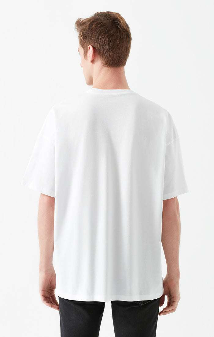 STUART CREWNECK T-SHIRT IN WHITE - Mavi Jeans