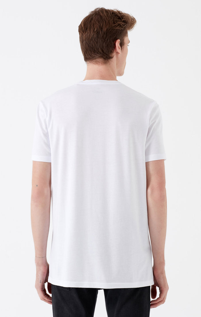 CHASE SLIM FIT STRIPED T-SHIRT IN WHITE - Mavi Jeans