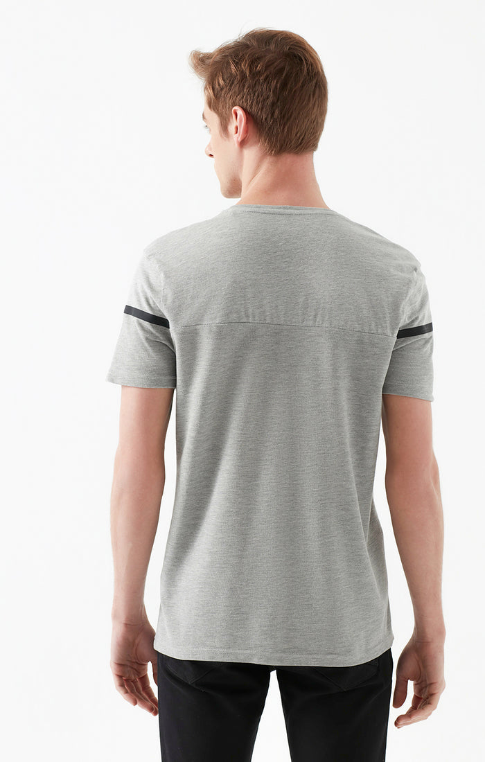 MESUT EXTRA SLIM FIT CREWNECK T-SHIRT IN GREY - Mavi Jeans
