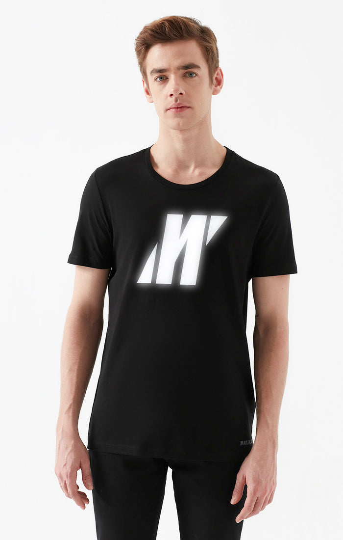 TRAVIS CREWNECK T-SHIRT IN BLACK - Mavi Jeans