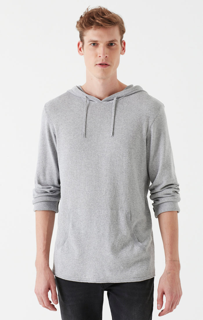 ROB SLIM FIT HOODED SWEATER IN GREY - Mavi Jeans