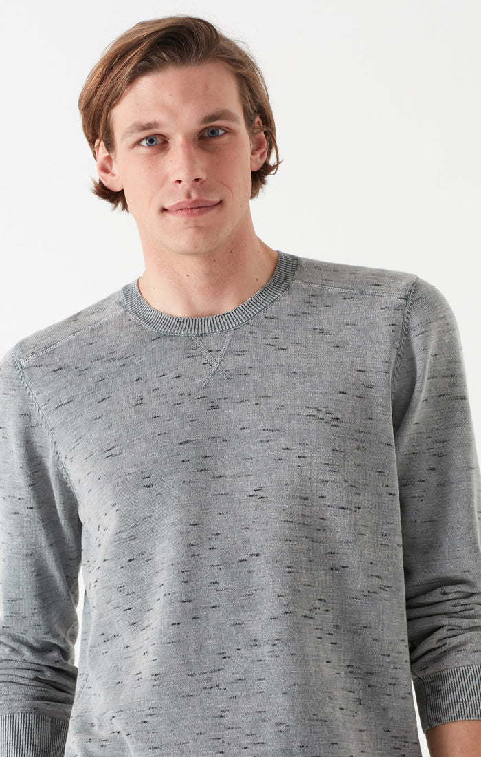 ROSS SLIM FIT SWEATER IN HEATERED GREY - Mavi Jeans