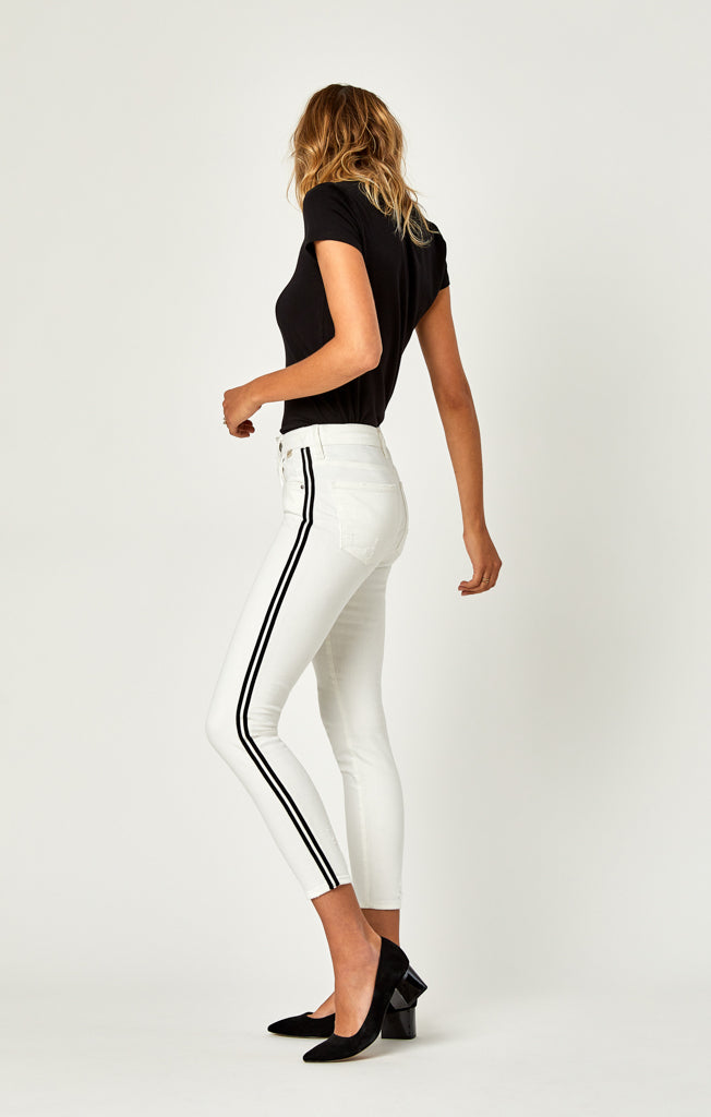 TESS SUPER SKINNY JEANS IN WHITE STRIPE - Denim - Mavi Jeans