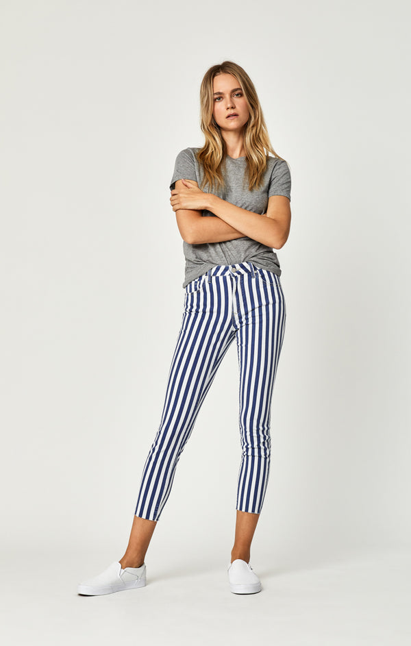 TESS SUPER SKINNY JEANS IN WHITE STRIPE DENIM - Mavi Jeans