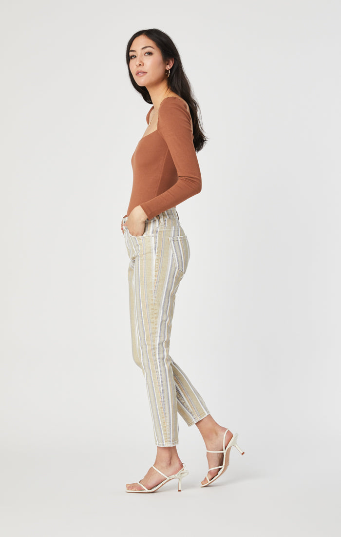 TESS SUPER SKINNY JEANS IN SUMMER STRIPE STRETCH - Mavi Jeans