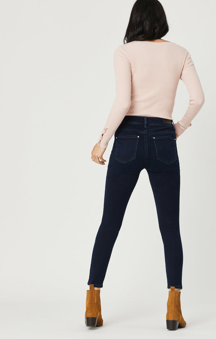 TESS SUPER SKINNY JEANS IN DEEP INK GOLD - Mavi Jeans