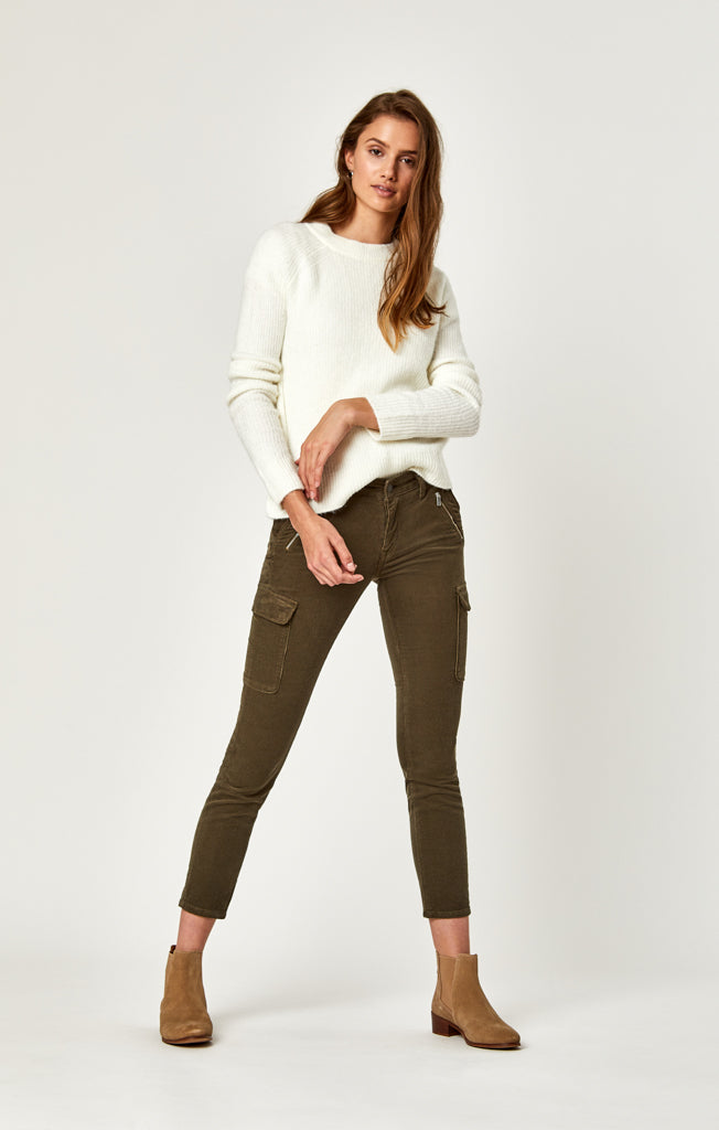 JULIETTE SKINNY CARGO IN MILITARY CORD