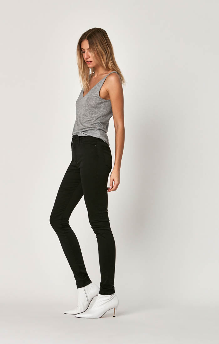 LUCY SUPER SKINNY JEANS IN BLACK GOLD LUX MOVE - Mavi Jeans