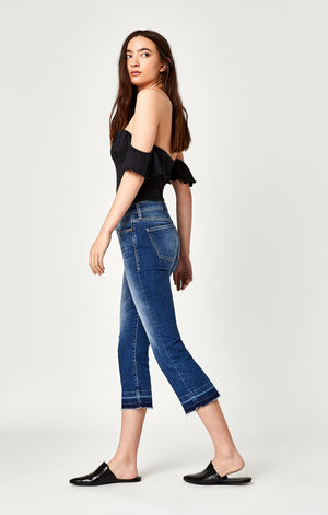 ANIKA CROPPED FLARE JEANS IN MID USED VINTAGE - Mavi Jeans