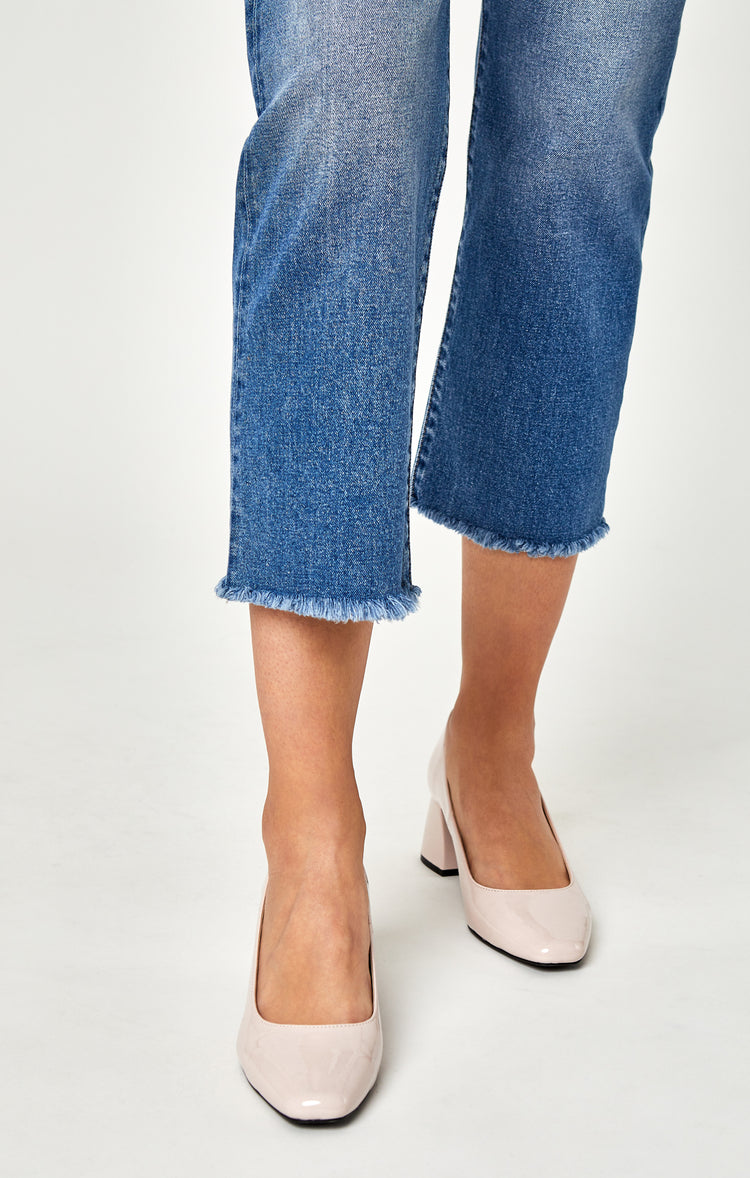 NIKI STRAIGHT CROP IN LIGHT INDIGO VINTAGE - Denim - Mavi Jeans