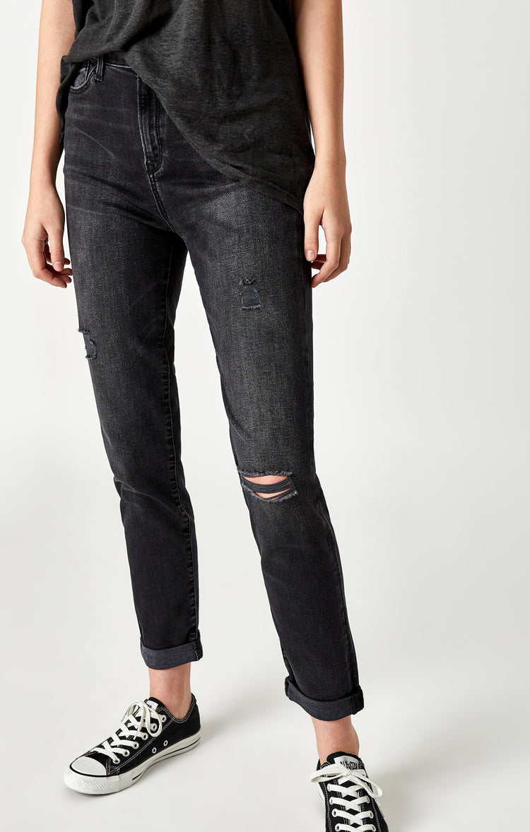 LEA BOYFRIEND IN SMOKE RIPPED NOLITA - Denim - Mavi Jeans